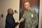 DLA Distribution's Shird presented commander's coin