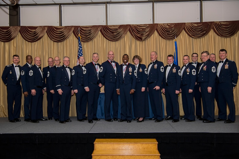 U.S. Reserve Citizen Airmen and New Jersey Air National Guard stationed at Joint Base McGuire-Dix-Lakehurst and their families attend a Chief Master Sergeant recognition ceremony at Tommy B's Community Center on JBMDL, N.J., March 23, 2019.