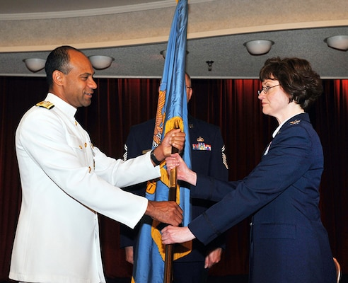 Col Farrow assumes command from Rear Admiral Vince Griffith