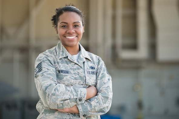 Tech. Sgt. Keona Newsom recognized for life saving actions.
