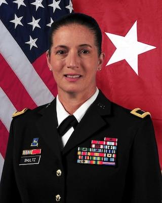 Brig. Gen. Dustin A. Shultz, 1st Mission Support Command commanding general