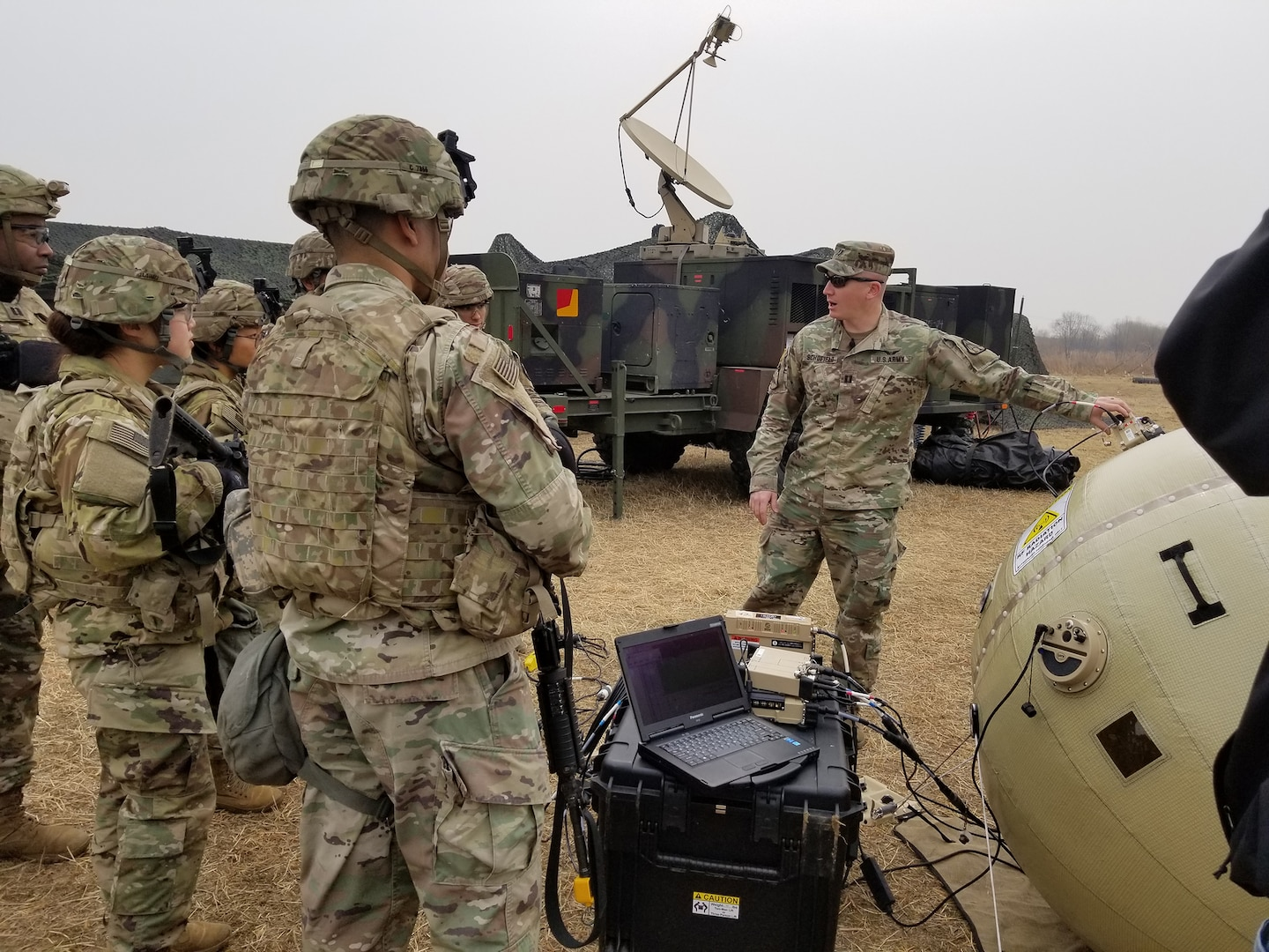 Inflatable Satellite Antenna Fielded to 8th Army Units
