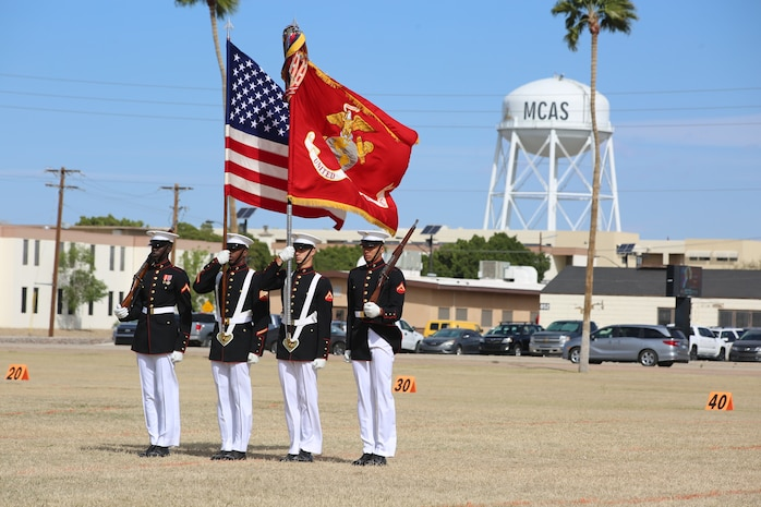 The Marines spent the past four weeks training at MCAS Yuma and then completed Battle Color Ceremonies at MCAS Yuma, Kofa High School and the 2019 MCAS Yuma Air Show.