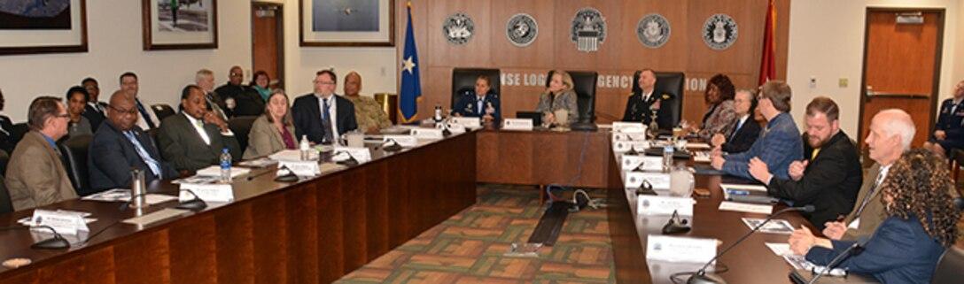 U.S. Rep. Abigail Spanberger visits key leaders at Defense Supply Center Richmond, Virginia.