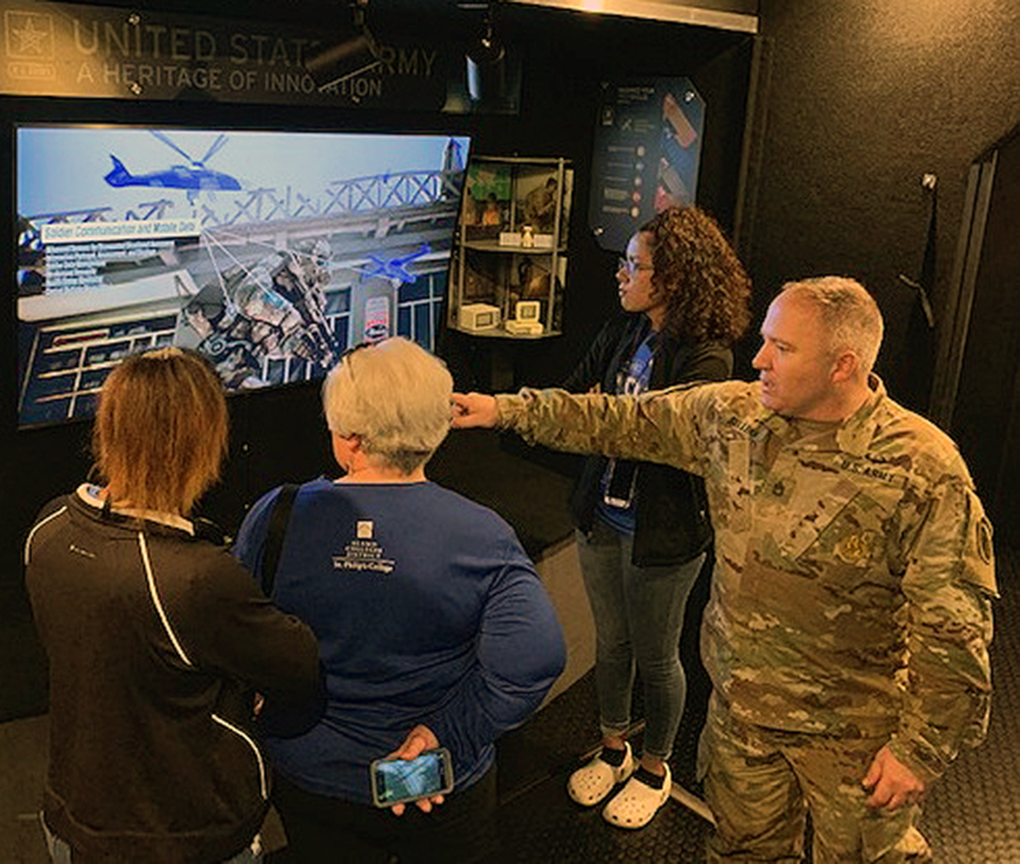 Mobile Exhibit At San Antonio Spurs Game Highlights Army