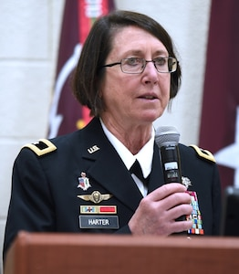 Brig. Gen. Wendy L. Harter, command surgeon for U.S. Army Forces Command, was the guest speaker for Class 19-191 graduation.
