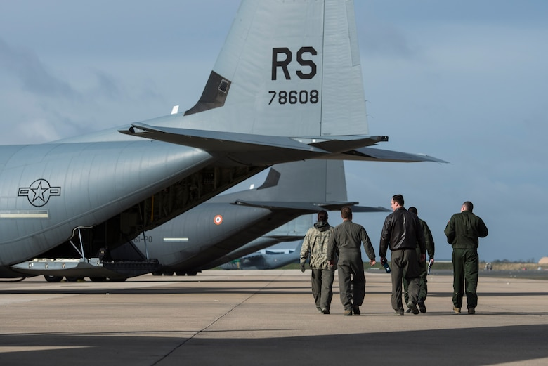 Members of the 37th Airlift Squadron traveled to Orleans-Bricy Air Base, France to work with the 2/61 Transport Squadron Franche Comte and their transition to the new C-130J Super Hercules March 18-19, 2019.
