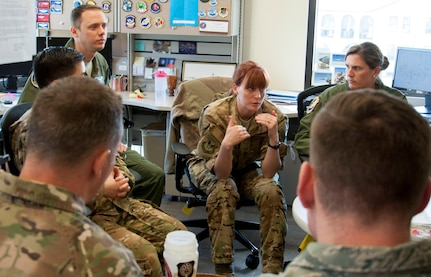Squadron commanders from across the Air Force meet with assignment officers at Joint Base San Antonio-Randolph March 18. During the discussions they covered topics such as talent management policies and programs, and officer assignment processes, challenges and successes.