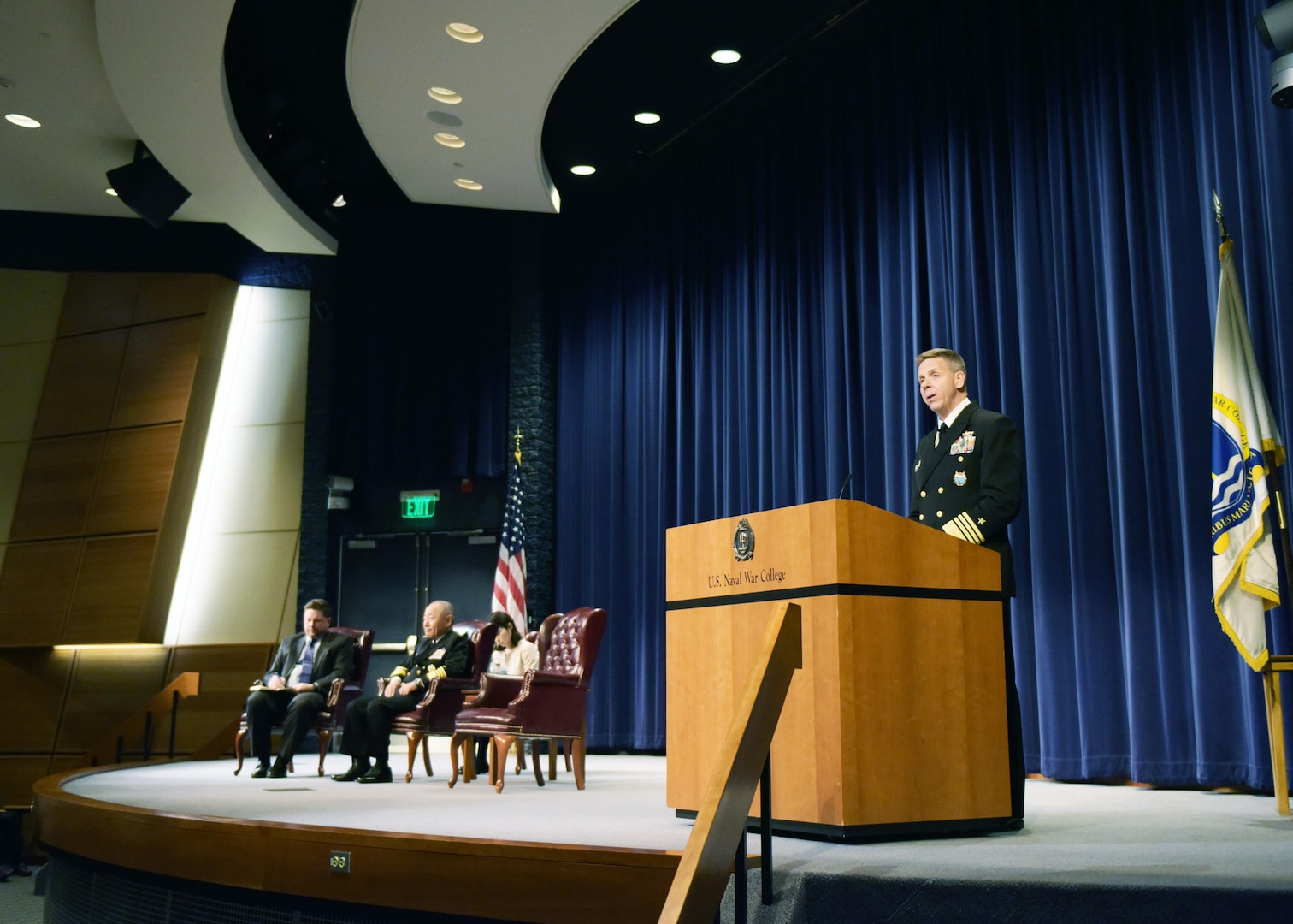 U.S. Indo-Pacific Command Leader and Japan Self-Defense Forces Chief of Joint Staff Address Students