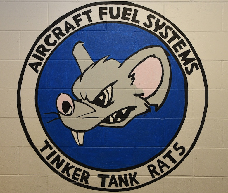 The Aircraft Fuel Systems unit, also known as the Tinker Tank Rats, is composed of 52 members. They are located in Bldg. 976 on the south side of Tinker Air Force Base. Here they maintain the fuel tanks of the Boeing E-3 Sentry Airborne Warning and Control Systems. (U.S. Air Force photo/2nd Lt. Ashlyn K. Paulson)