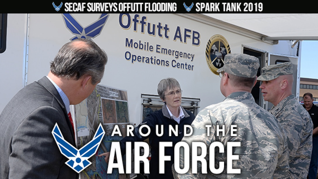Around the Air Force: SECAF visits Offutt AFB / Spark Tank 19