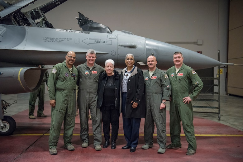 187FW and 100FS leadership with Marla Andrews