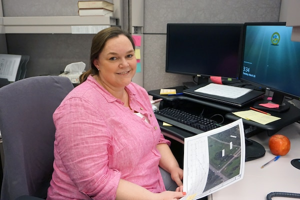 NASHVILLE, Tenn. (March 26, 2019) – Kate Korthals, engineering and computer aided drafting technician in the Soils and Dam Safety Branch in the Engineering and Construction Division, is the U.S. Army Corps of Engineers Nashville District Employee of the Month for February 2019.