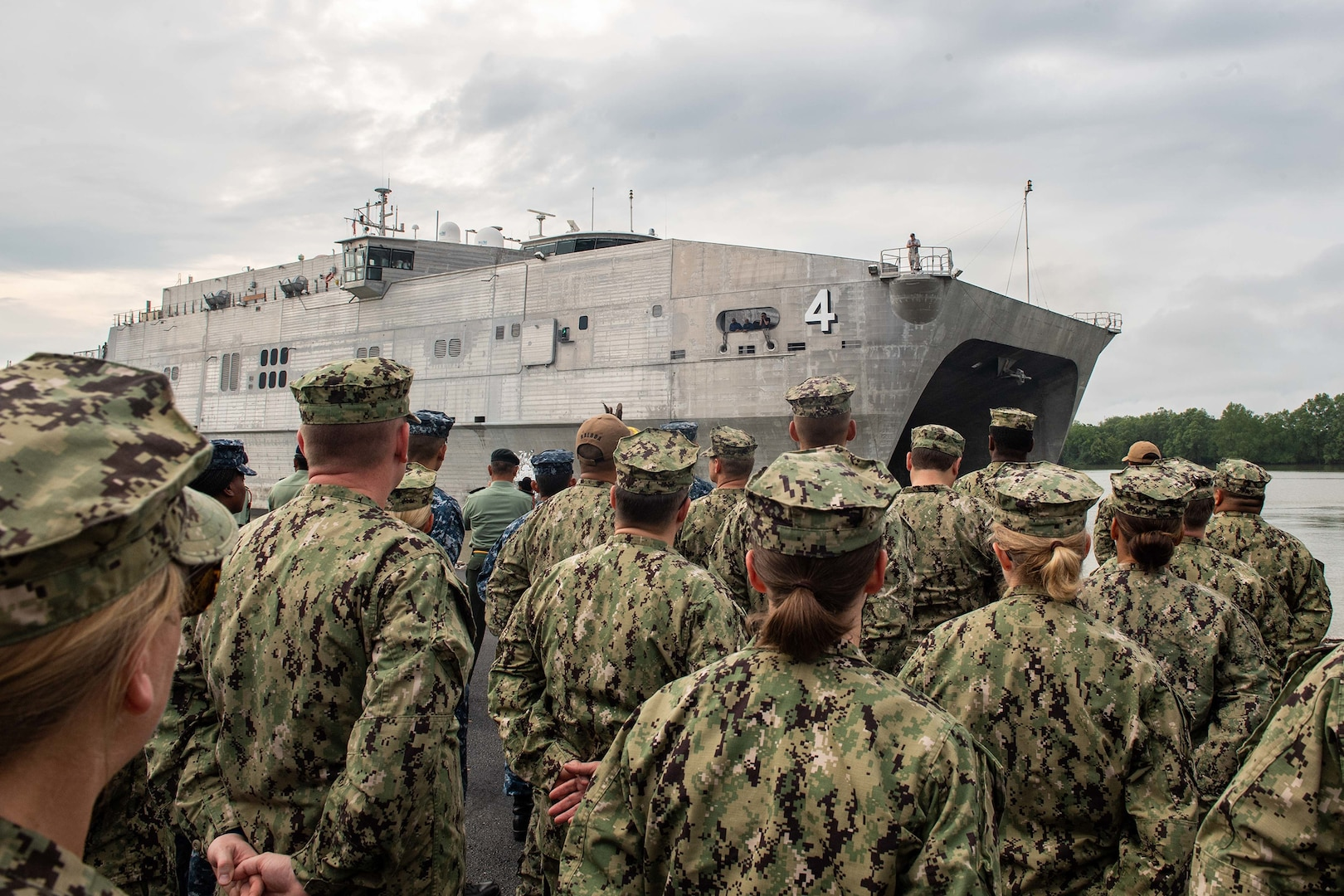 USNS Fall River Arrives in Kuching for Pacific Partnership