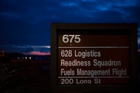 The sun rises as the 628th Logistics Readiness Squadron fuels management flight prepares to try out for the forward area refueling point team March 26, 2019, at Joint Base Charleston, S.C.