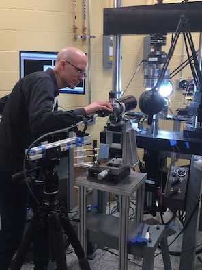 Dr. Adam Pilchak has emerged as the United States Air Force's leading expert in microstructural fatigue and damage tolerance of titanium alloys, which are used worldwide in military and commercial aerospace systems. (U.S. Air Force photo/Donna Lindner)