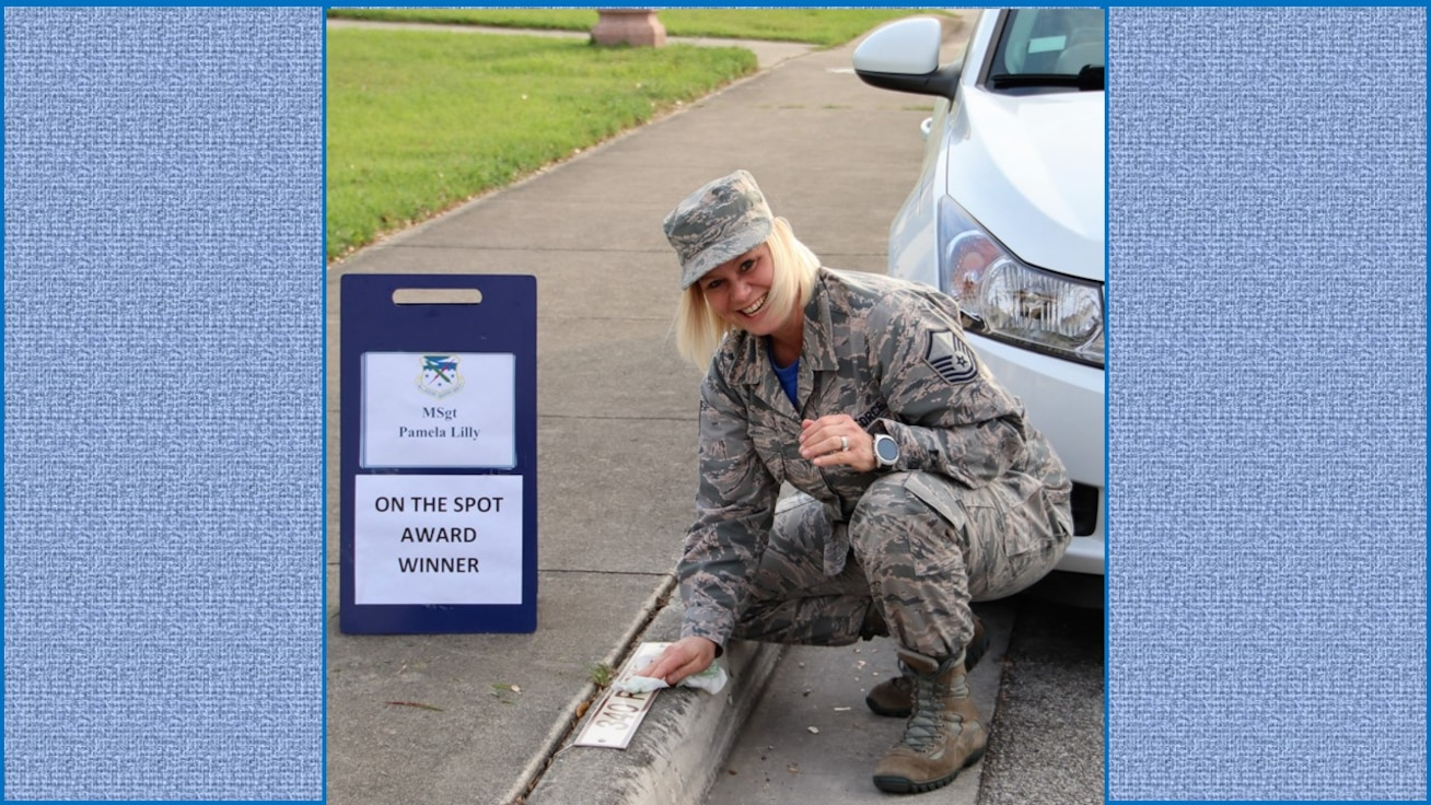 340th FTG On the Spot Award winner: Master Sgt. Pamela Lilly. (U.S. Air Force photo by Janis El Shabazz)