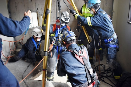U.S. Military Firefighters Train for Earthquakes at Camp Zama