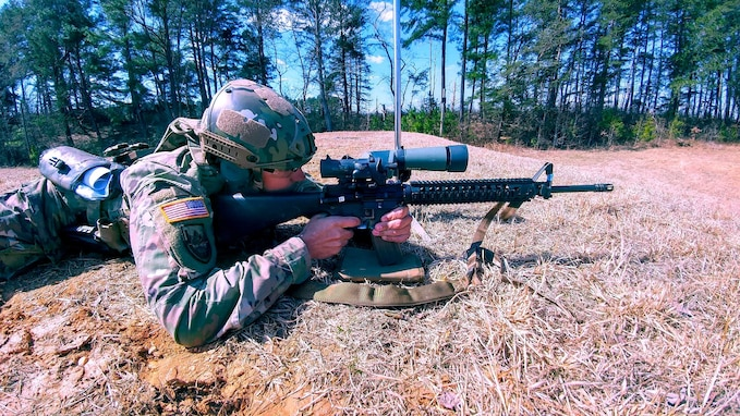 Army Reserve Marksmanship Program testing equipment