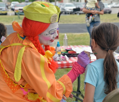 Children in attendance were treated to face painting as one of the many activities offered at the annual Cowboys for Heroes chuckwagon event at Joint Base San Antonio-Fort Sam Houston March 30.