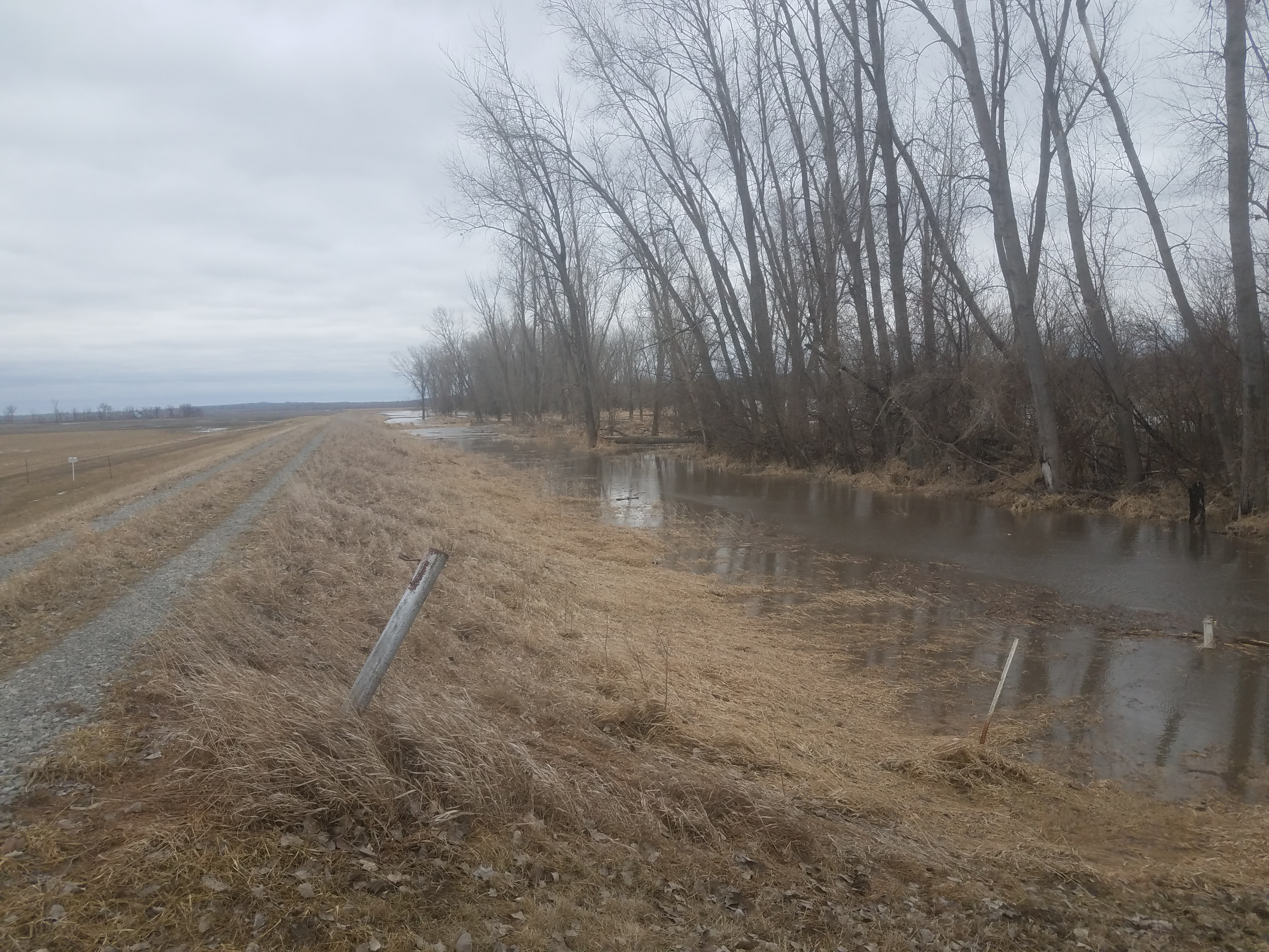 L550 levee breach near Watson, Missouri Mar  14, 2019