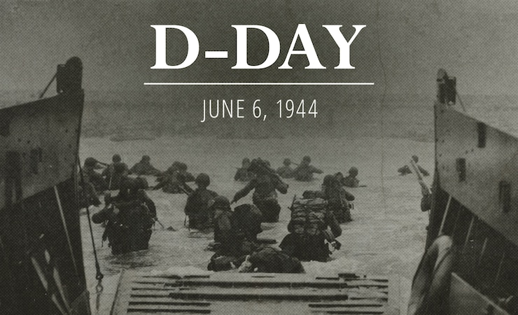 US Army D-Day website graphic