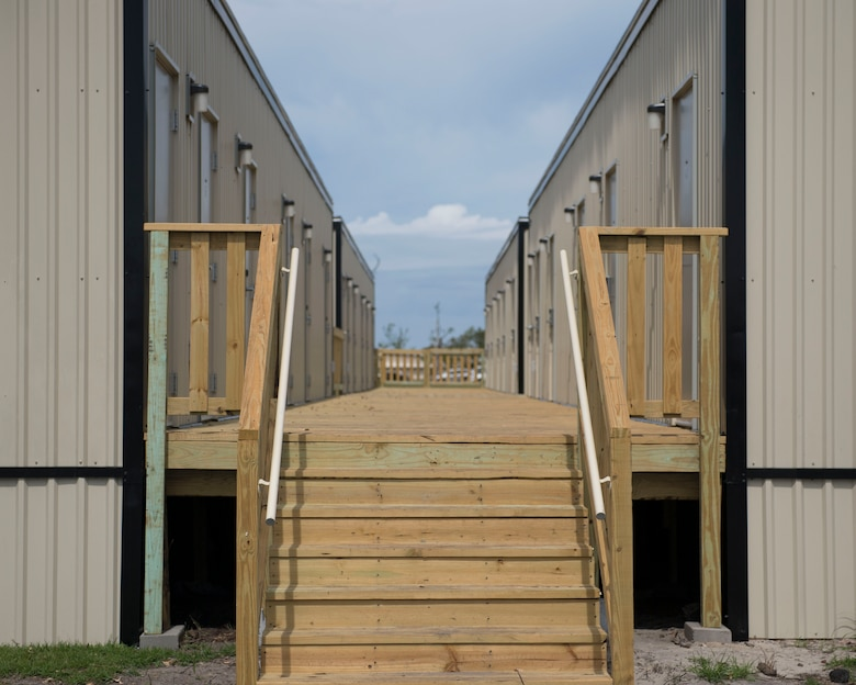 The 325th Civil Engineer Squadron has opened up new double-bed dorm rooms at Tyndall Air Force Base, Florida, April 25, 2019.