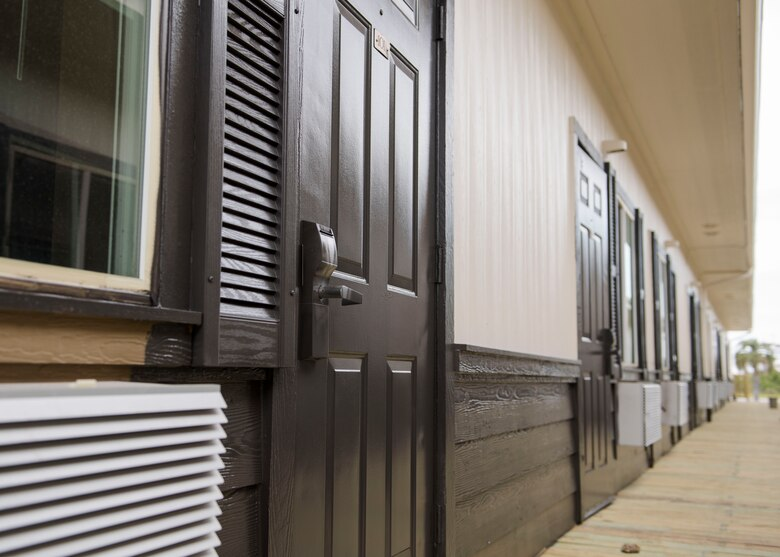 The 325th Civil Engineer Squadron has opened up Phase 1 of their new temporary dorm room project at Tyndall Air Force Base, Florida, April 25, 2019.