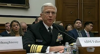 Screenshot of Navy Adm. Craig S. Faller, commander of U.S. Southern Command, testifying before the House Armed Services Committee May 1, 2019.