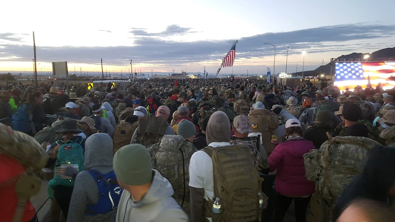 The opening ceremony of the 2019 Bataan Memorial Death March, March 17, 2019.