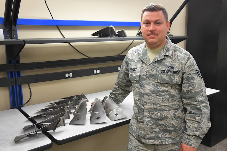 Staff Sgt. Nathan Hassey, 388th Maintenance Group, was recently named a Superior Performer by the Team Hill Top 3. The Top 3 recognizes Airmen from Team Hill who have demonstrated excellence on and off duty. (U.S. Air Force photo by Todd Cromar)