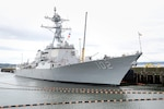USS Sampson (DDG 102) sits pierside April 19 at Naval Station Everett.