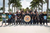Members of U.S. Marine Corps Forces, South, show support for the 20th Annual Denim Day by wearing denim to raise awareness against sexual violence, April 26, 2019.