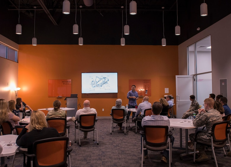 The 96th Test Wing innovation office holds a Share and Connect Workshop to promote a culture of innovation.