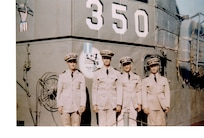 A photo of the LCI 350 and crewmembers