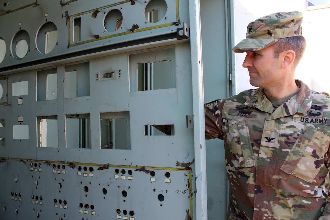 U.S. Army Corps of Engineers, Baltimore District commander Col. John Litz takes a look at the SM-1A Deactivated Nuclear Power Plant's former control panel April 24, 2019. SM-1A, located in Fort Greely, Alaska, where the final decommissioning of the SM-1A deactivated nuclear power plant will take place. Baltimore District, with its Radiological Center of Expertise, Fort Greely Garrison and Alaska District personnel are working together closely in partnership on the SM-1A decommissioning at Fort Greely in Alaska.