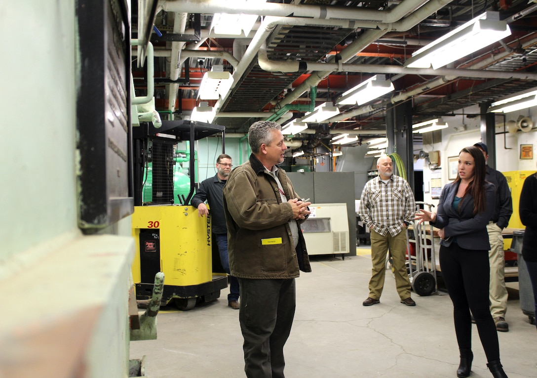 U.S. Army Corps of Engineers, Baltimore District Radiological Health Physicist Hans Honerlah discusses ongoing planning efforts for the final decommissioning of the SM-1A deactivated nuclear power plant during a site tour Thursday April 25, 2019, that included staffers from the offices of Alaska Sens. Lisa Murkowski and Dan Sullivan and Rep. Paul Young as well as personnel from the U.S. Army Corps of Engineers Baltimore District and Alaska District and Fort Greely. The SM-1A project team is committed to transparently sharing accurate information in a timely manner throughout the course of the project and among all relevant parties, making sure concerns among stakeholders are quickly addressed.