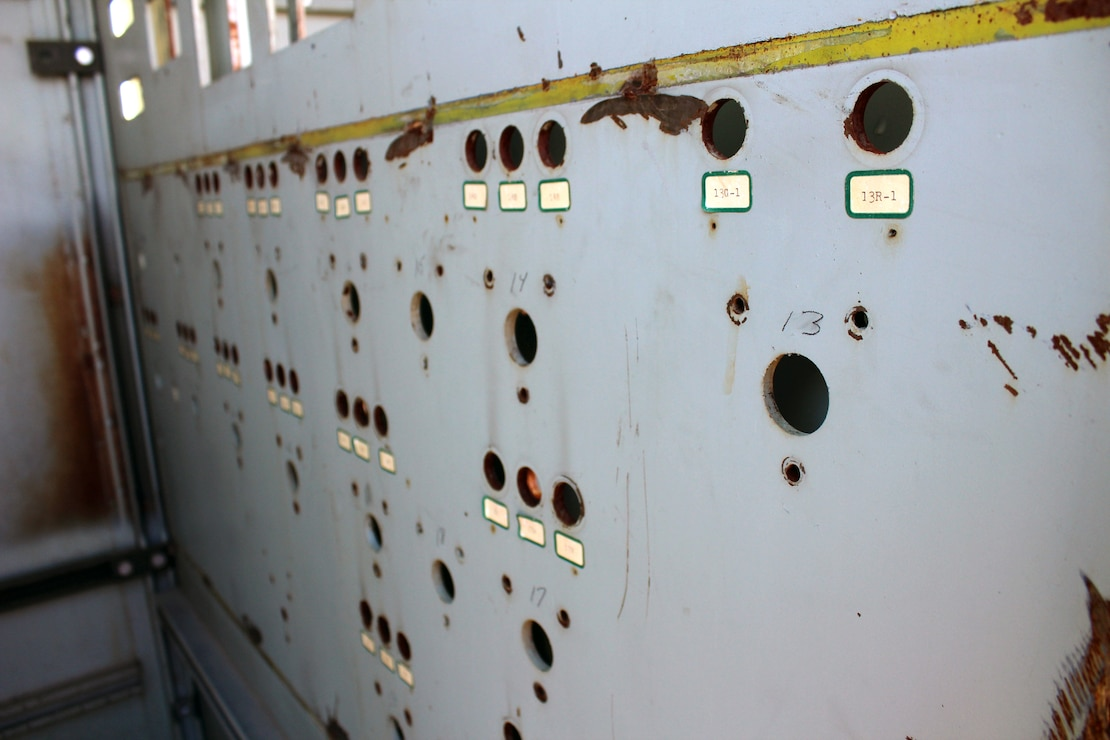 The SM-1A Deactivated Nuclear Power Plant's former control panel is featured during a site tour April 24, 2019. SM-1A, located in Fort Greely, Alaska, will be completely decommission and dismantled by the Baltimore District, with its Radiological Center of Expertise, and in partnership with Fort Greely Garrison and Alaska District personnel. The SM-1A project team is committed to transparently sharing accurate information in a timely manner throughout the course of the project and among all relevant parties, making sure concerns among stakeholders are quickly addressed.