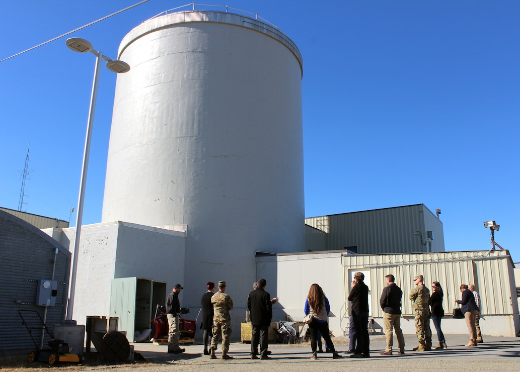 U.S. Army Corps of Engineers, Baltimore District personnel discuss ongoing planning efforts for the final decommissioning of the SM-1A deactivated nuclear power plant during a site tour Thursday April 25, 2019, that included staffers from the offices of Alaska Sens. Lisa Murkowski and Dan Sullivan and Rep. Paul Young as well as personnel from the U.S. Army Corps of Engineers Baltimore District and Alaska District and Fort Greely. The SM-1A project team is committed to transparently sharing accurate information in a timely manner throughout the course of the project and among all relevant parties, making sure concerns among stakeholders are quickly addressed.