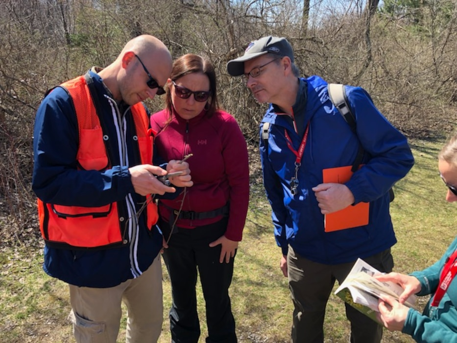 USACE Buffalo District Regulators study leafless woody plants to improve their identification skills in the field.