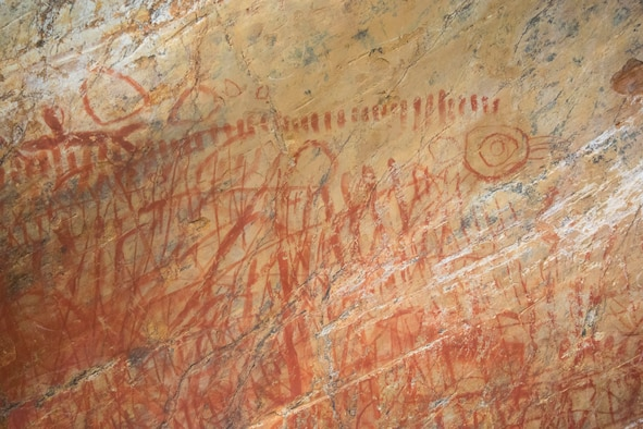 The Vandenberg Cultural Resources Team protects 14 sacred Chumash Indian rock art sites across Vandenberg Air Force Base, Calif., in partnership with the Elders Council of the Santa Ynez Band of Chumash Indians.