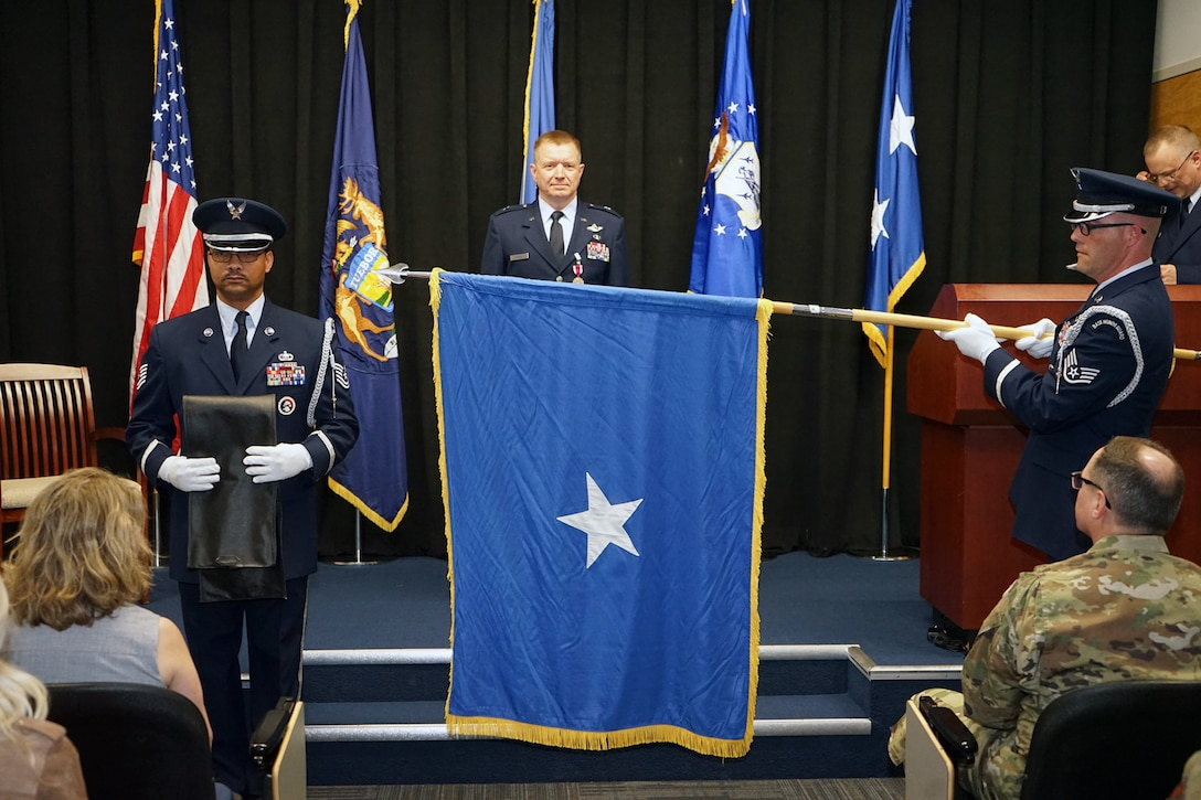 Brig. Gen. Rolf E. Mammen is promoted to brigadier general during a ceremony at Selfridge Air National Guard Base, May 4, 2019. Mammen assumed command of the 127th Wing later in the day.
