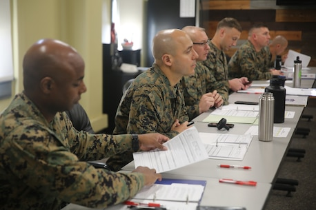 The Chief Instructor, BRC Course Head, and section Course Chiefs provide balanced feedback during the new instructor teach-back interviews.