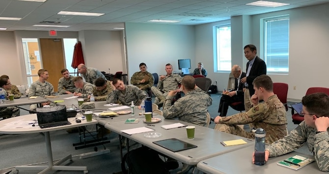 U.S. Air Force Airmen with the 363d Intelligence, Surveillance and Reconnaissance Wing gather to exchange information with engineers who are designing tools to benefit them as end users. (Courtesy photo)