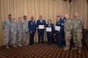 Reserve Citizen Airmen from the 514th Air Mobility Wing, Joint Base McGuire-Dix-Lakehurst, N.J., pose for a photo following a Community College of the Air Force graduation, May 3, 2019.