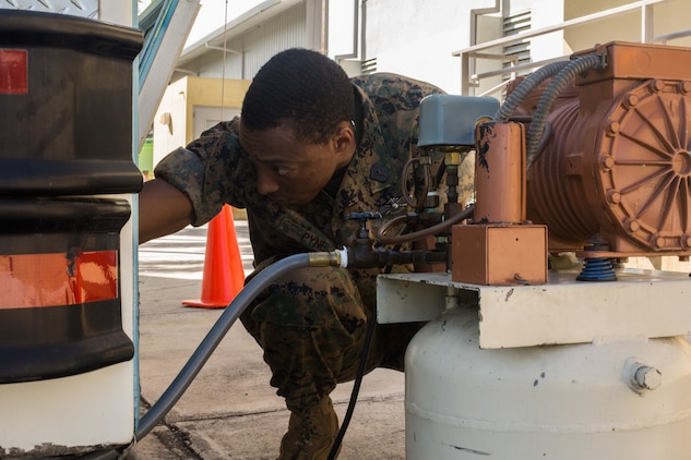 Petty Officer 2nd Class Ryan Pyne, a hospital corpsman with Marine Forces Reserve at Innovative Readiness Training 2019 Puerto Rico