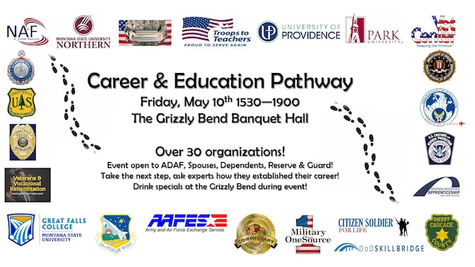 The first-ever Career and Education Pathway event will take place May 10, 2019 from 3:30 to 7 p.m. at the Grizzly Bend.