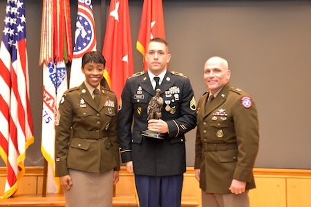 The runner-up is Staff Sgt. Cain Pavlak, Columbus Recruiting Battalion, 3rd Recruiting Brigade. He will compete at the TRADOC level if winner last name is unable to participate.