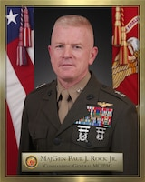 Major General Paul J. Rock Jr., Commanding General of Marine Corps Installations Pacific-Marine Corps Base Camp Smedley D. Butler.