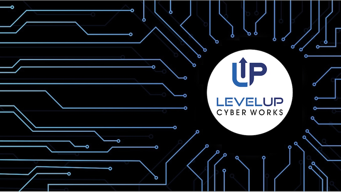 """LevelUP Cyber Works is a """"cyber factory"""" that will develop and field new capabilities. Unified Platform is a cyberspace operations system for those future cyber mission force capabilities. (U.S. Air Force Graphic by Benjamin Newell)"""